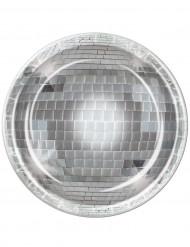 Set van spiegelbol disco borden