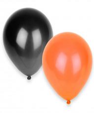 Set van 100 oranje en zwarte ballonnen Halloween