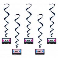 5 jaren 80 cassettebandjes spiralen