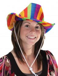 Veelkleurige cowboy hoed voor volwassenen