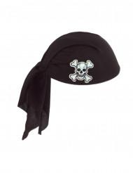 Zwarte piraten hoofddoekje voor volwassenen