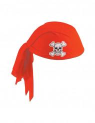 Rode piraten hoofdband voor volwassenen