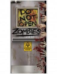 Zombie laboratorium deurdecoratie