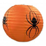 Set van 3 oranje lantaarns met spinnen Halloween
