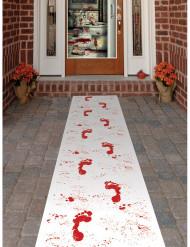 Loper met bebloede voetafdrukken Halloween