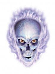 Skeletten sticker met vlammen Halloween