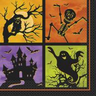Set met Nacht van Halloween servetten