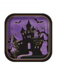 Set vierkant bordjes Nacht van Halloween