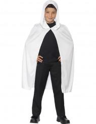 Witte cape met capuchon voor kinderen Halloween