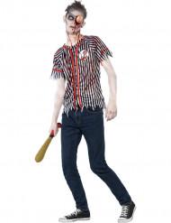 Zombie honkbalspeler kostuum voor jongens Halloween