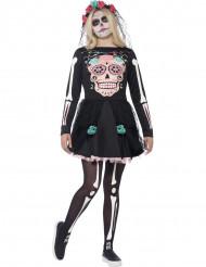Veelkleurig skeletten kostuum voor tieners