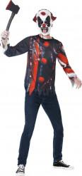 Griezelige clown set voor Halloween voor tieners