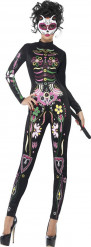 Gekleurd skeletten Halloween kostuum voor dames
