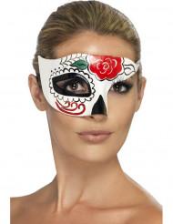 Half masker met gekleurde motieven voor volwassenen Halloween