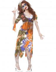 Zombie hippie Halloween kostuum voor dames