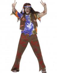 Zombie hippie Halloween kostuum voor heren