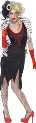 Gruwelijke zombie Halloween kostuum voor dames
