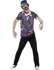 Zombie schooljongen kostuum voor heren