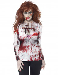 Sexy zombie t-shirt voor dames Halloween