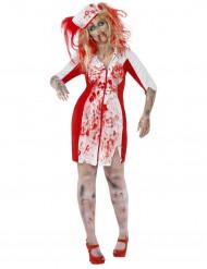 Bebloede verpleegster outfit voor dames Halloween