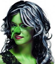 Groen heksen neus voor volwassenen Halloween