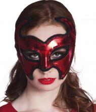 Rood duivel masker voor dames Halloween