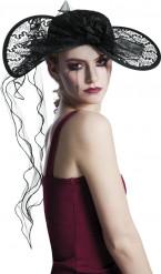 Zwarte weduwe hoed voor vrouwen Halloween