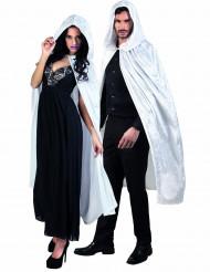 Witte cape met velours effect volwassenen Halloween