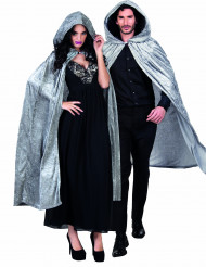 Grijze cape met velours effect Halloween