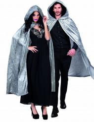 Grijze cape met velours effect Halloween