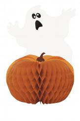 Tafelversiering spook en pompoen Halloween