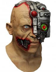 Geanimeerd cyborg masker met oogscanner