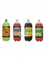 4 fles etiketten voor Halloween