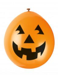 Set lachende pompoenen ballonnen Halloween