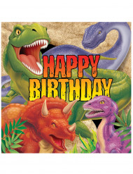Set van papieren servetten dinosaurus