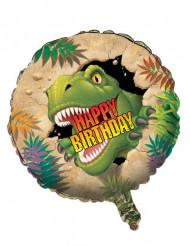 Folie ballon Happy Birthday Dinosaurus
