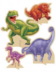 Set van 4 tafelversieringen dinosaurus