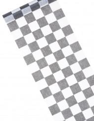 Zwart-witte tafelloper schaakboordpatroon