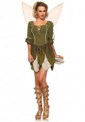 Groen bos feeën kostuum voor vrouwen
