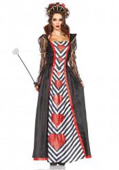 Hartenkoningin jurk en haarband voor vrouwen