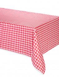 Rood plastic geruit tafelkleed
