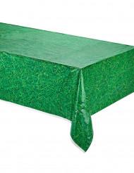 Groen tafelkleed met gras opdruk