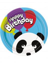 Set van panda wegwerp borden voor verjaardagspartij
