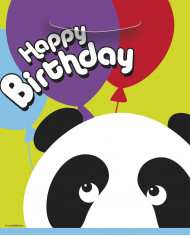 Set van Panda feestzakjes Happy Birthday