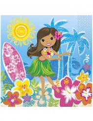 Set Hawaii servetten