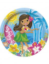 Set van Hawaiiaanse borden