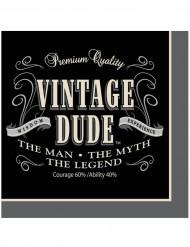 Papieren servetten Vintage Dude