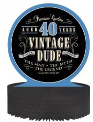 Tafeldecoratie Vintage 40 jaar