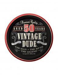 Set van Vintage 50 jaar borden