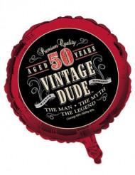 Folie ballon Vintage 50 jaar
